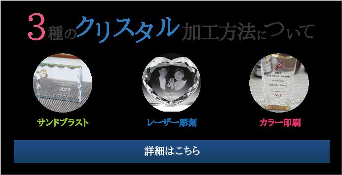 3種のクリスタル加工方法についてはコチラ