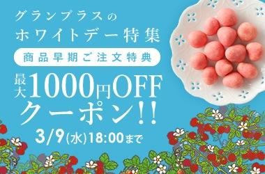 ホワイトデー 早期ご注文1000円引クーポン
