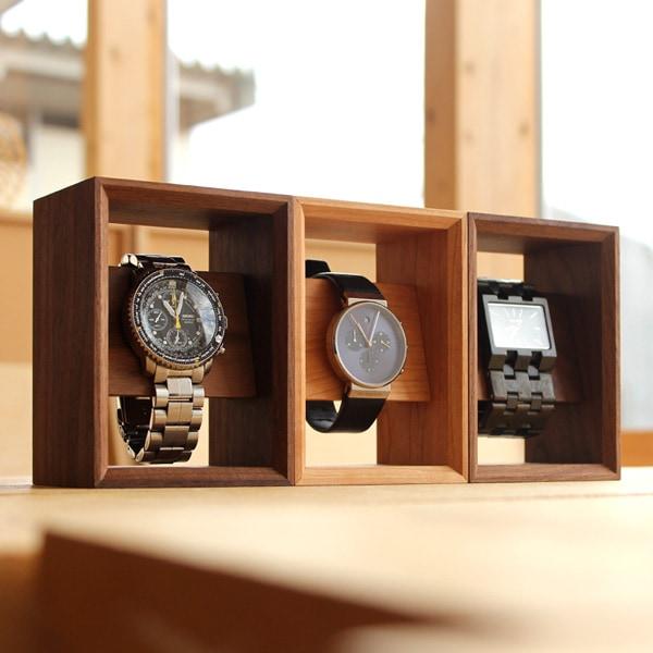 複数並べて腕時計のコレクションケースとしてお使い下さい