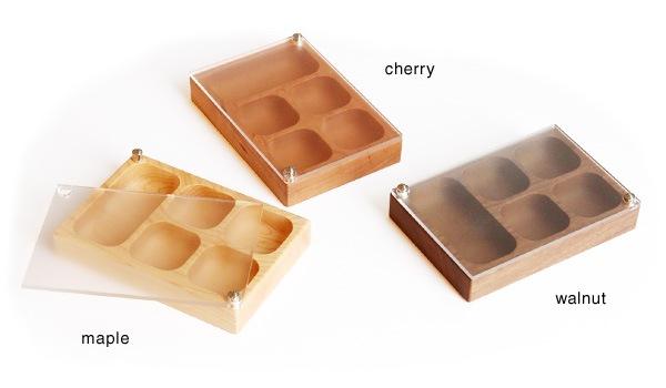 メープル・チェリー・ウォールナットを使用した木製アクセサリーケース・小物入れ