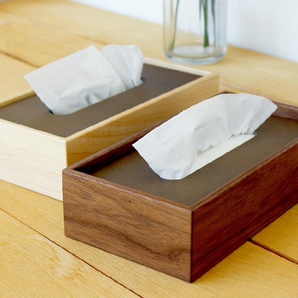 北欧風のシンプルな置き蓋式木製ティッシュボックス