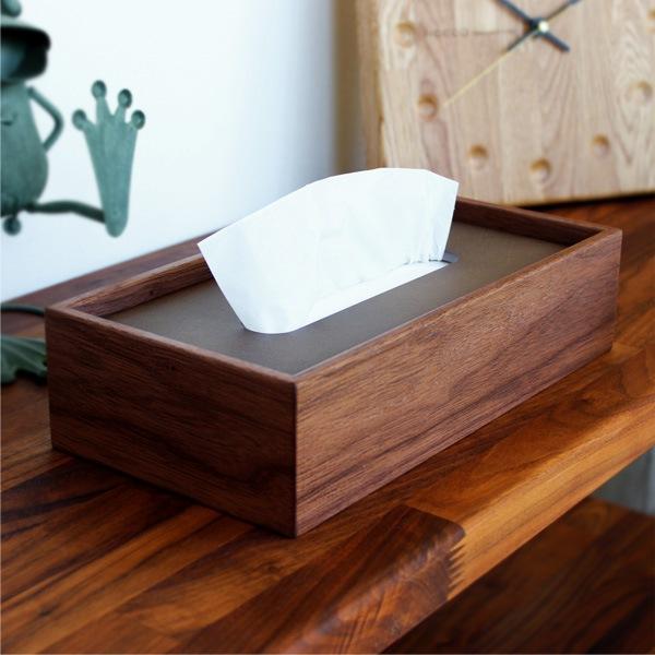 シンプルでオシャレな置き蓋式木製ティッシュケース