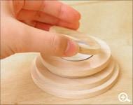 Hacoaデザインの、木製キャンドル「Ring」