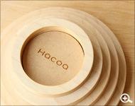 Hacoaブランドの木製キャンドル「Ring」
