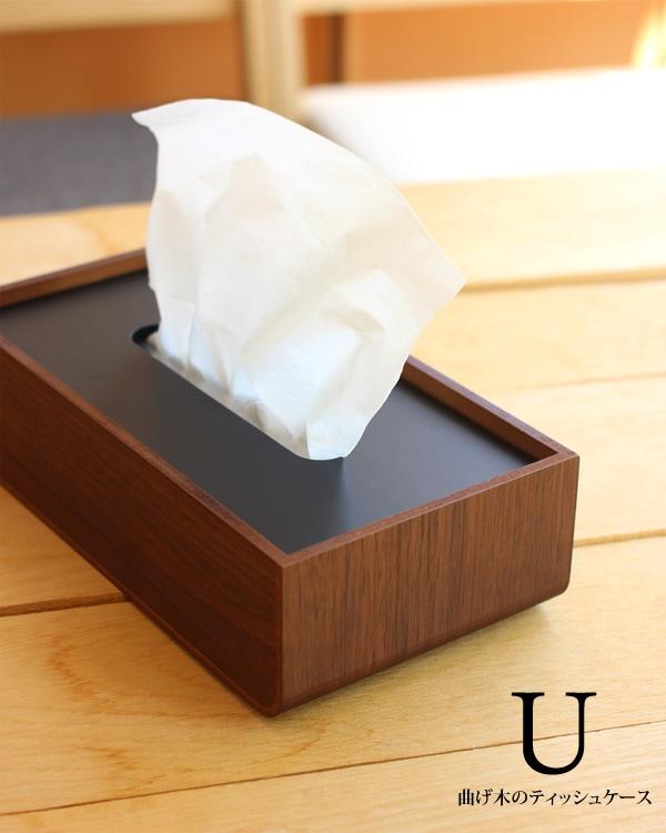置き蓋式の木製ティッシュケース
