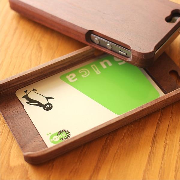 定期入れ、パスケースにもなる木製ケース