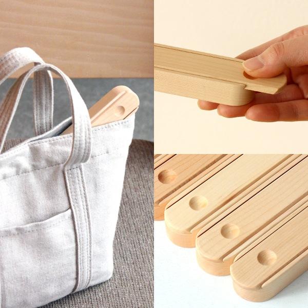 おしゃれな木製子供用箸箱