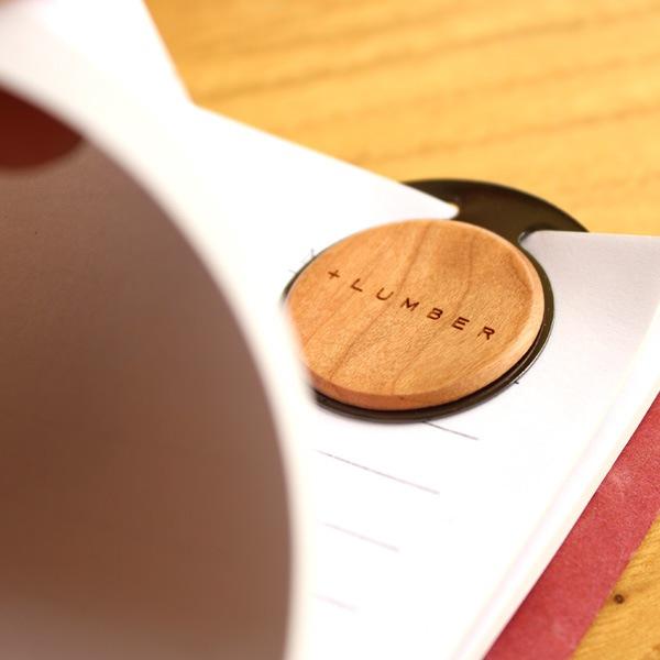 ブックマーク・しおりとしても使える木製ペーパークリップセット