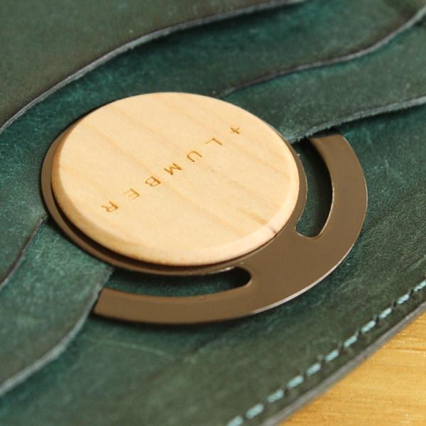 手帳などに携帯している時でも様になる、木製ペーパークリップ 5枚セット