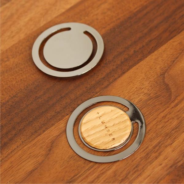 5種類の銘木が書類整理の目印になる木製ペーパークリップ「CLIP ROUND」