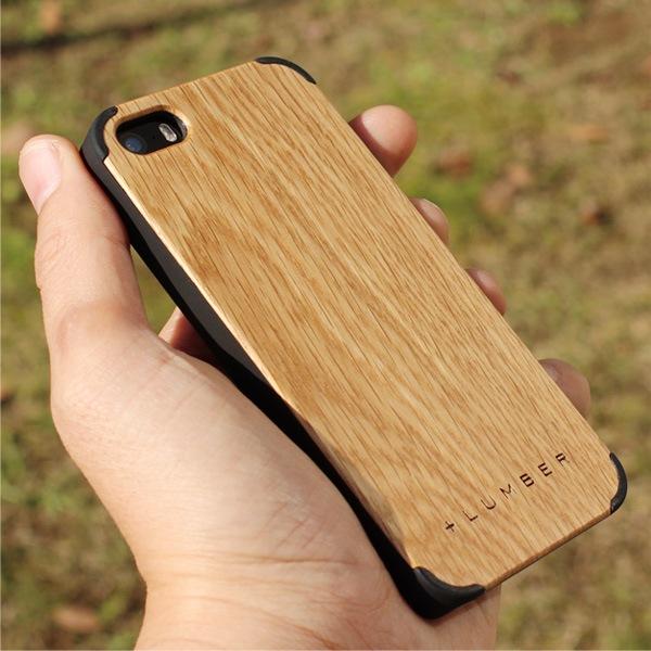 天然木を融合したiPhone5/5s専用のおしゃれなハードケース