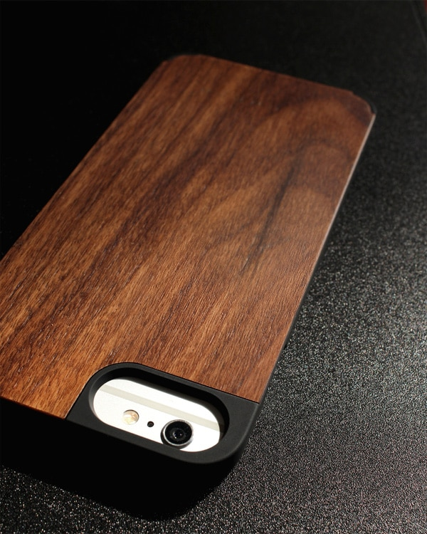丈夫なハードケースと天然木を融合したiPhone6 Plus/6s Plus木製ケース