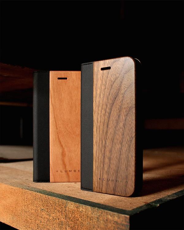 手帳型の木製スマートフォンケース iPhone7専用