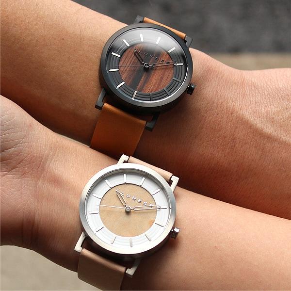 ステンレス削り出しケースに銘木を活用した木製腕時計