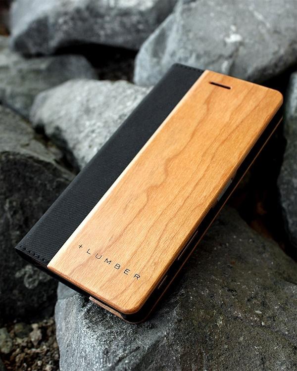 手帳型の木製スマートフォンケース Xperia™ X Performance専用