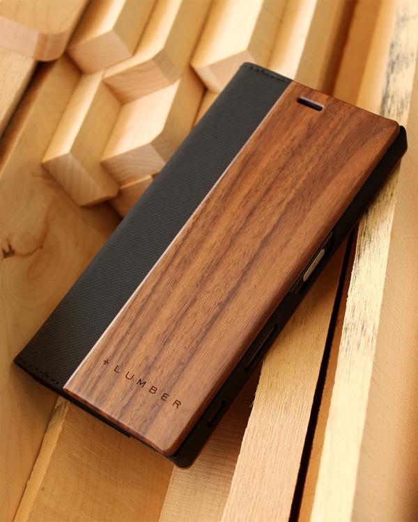 木目の美しさを活かしたXperia XZ専用手帳型木製ケース「Xperia XZ FLIP CASE」