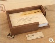 名刺・ショップカードに最適なカードトレイ・ケース・ホルダー「Card Tray」