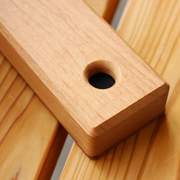 朱肉ケースが取り出しやすい木製印鑑入れ
