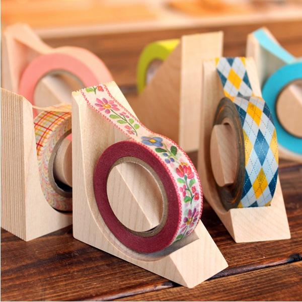 おしゃれなmt対応の木製テープカッター