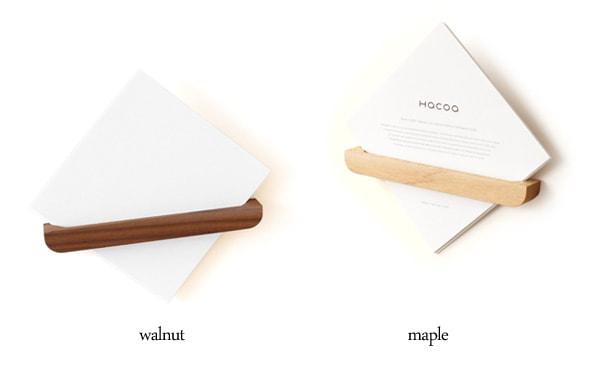 メープルとウォールナットを使用したメモポケット