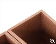 Hacoaブランドの木製ペンスタンド&ペントレイ「Module set」