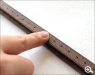 新しくもどこか懐かしい木製ものさし・モノサシ・定規・スケール