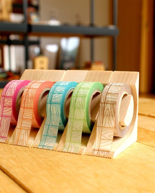 Hacoaデザインのおしゃれな木製マスキングテープカッター