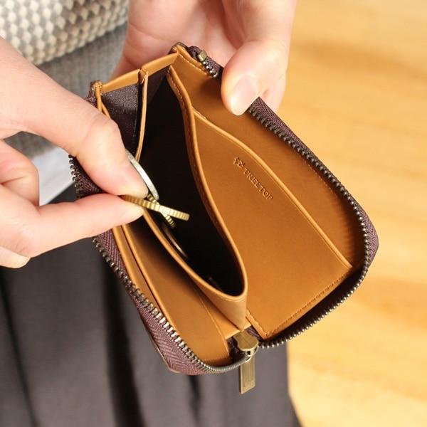 ジッパーが大きく取り出しやすい小銭入れ