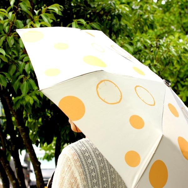 顔色を明るく見せる効果のある折りたたみ傘