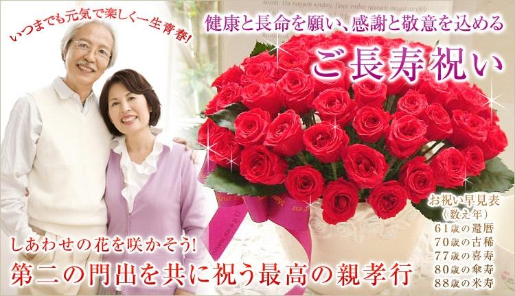 健康と長命を願い、感謝と敬意を込める ご長寿祝い