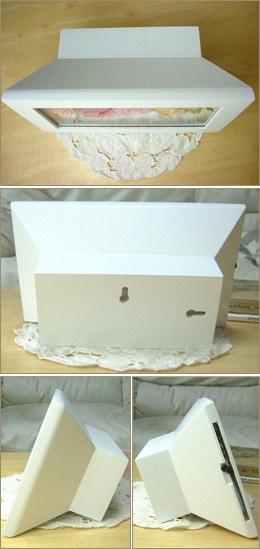壁掛けウッドボックス長方形 ピンクセレブ