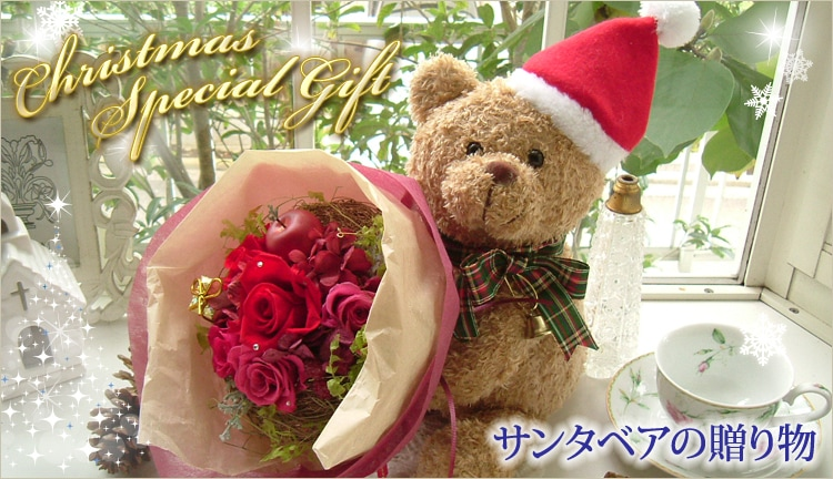 サンタベアの贈り物 Christmas  Special Gift|花ガーデン(花garden)
