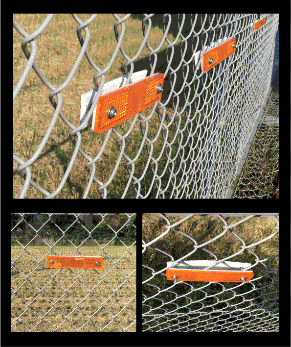 ネットフェンス反射器 簡単取り付け フェンス用