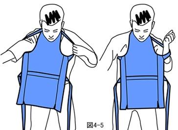腹掛の着方図4-5