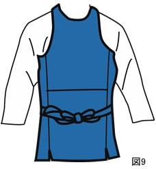 腹掛の着方図9