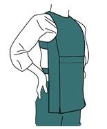 腹掛の着方図11