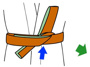 帯の結び方【貝の口】7