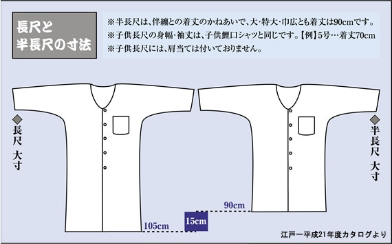 丈長シャツの説明