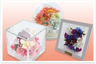 「ブーケ ドライフラワー」の保存加工方法でお花を立体的に残します!