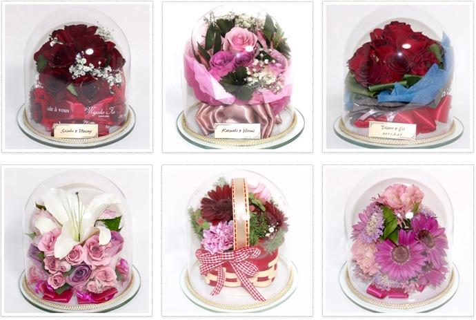 プロポーズのお花が10輪〜20輪以下のお花の場合 ミディアムドーム