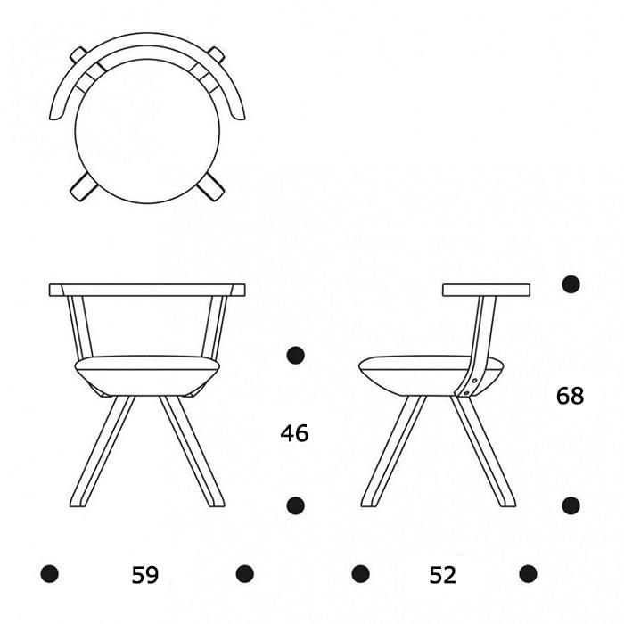 KG001 Rival Chairサイズ