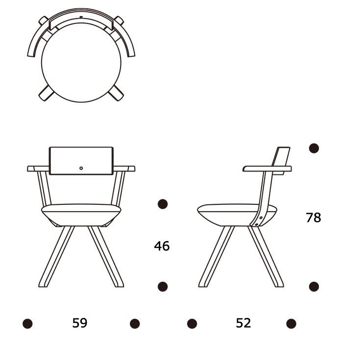 KG002 Rival Chairサイズ