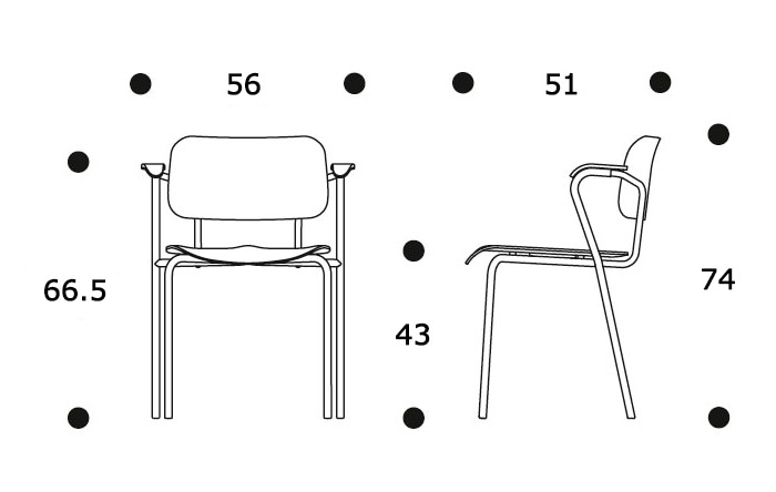 Lukki Chairサイズ