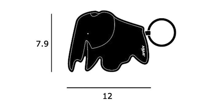 Key Ring Elephantサイズ