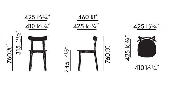 All Plastic Chair(オールプラスチックチェア)サイズ