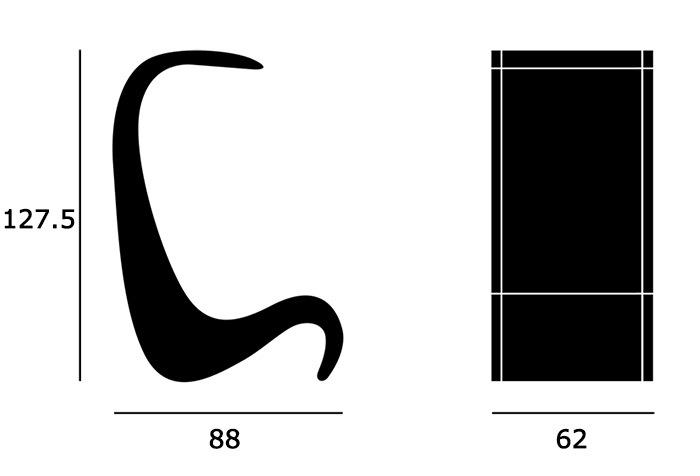 Amoebe Highbackサイズ