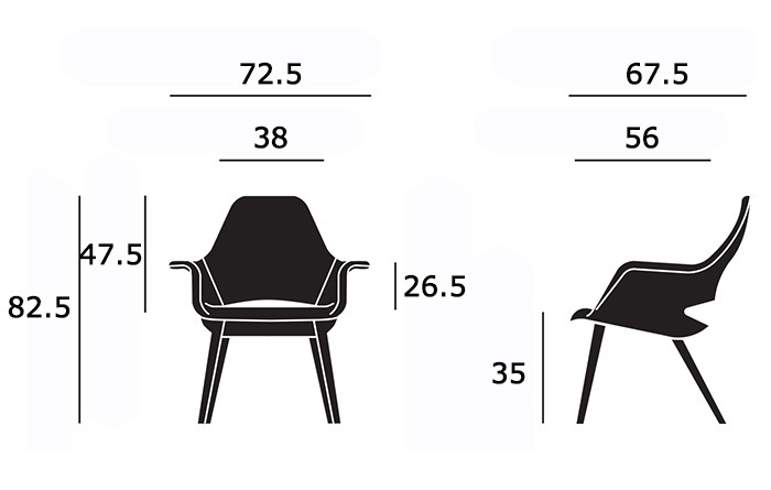 Organic Chairサイズ