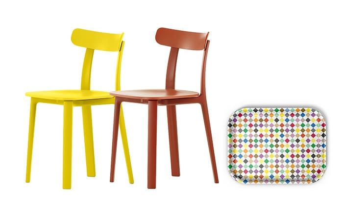 All Plastic Chair 2脚 + クラシックトレーM ダイアモンド