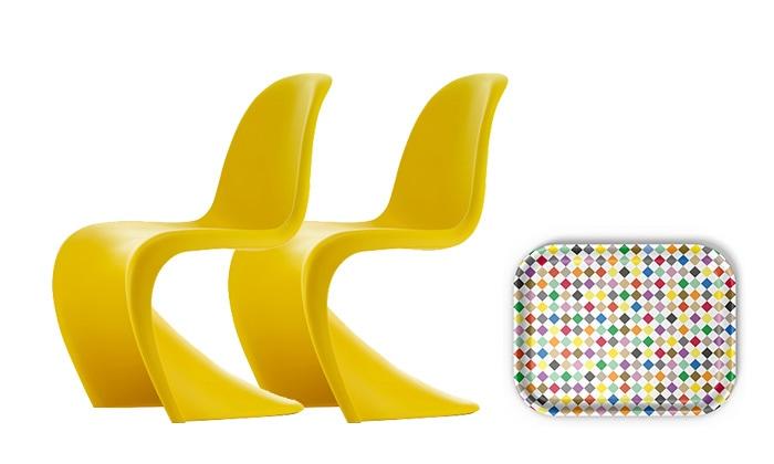 Panton Chair Sunlight 2脚 + クラシックトレーM ダイアモンド