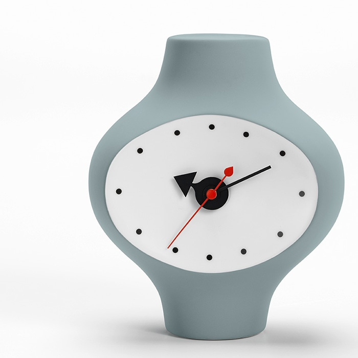 Ceramic Clock Model 3(Dark Grey/Blue)